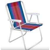 Cadeira de Praia Alta Alumínio Mor- Cores Diversas (Colocar a cor desejada no ato do pedido)