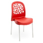 Cadeira Deluxe Vermelha Forte Plástico