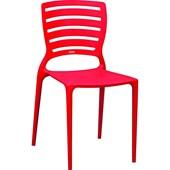 Cadeira  Sofia Vermelha Encosto Vazado 92237/040 Tramontina